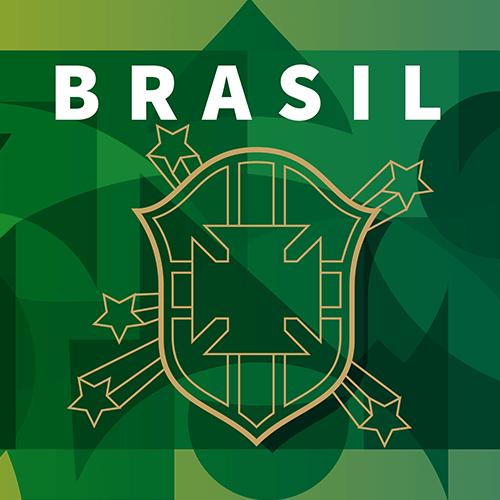 Ilustração da seleção do Brasil na Copa do Mundo da Rússia 2018