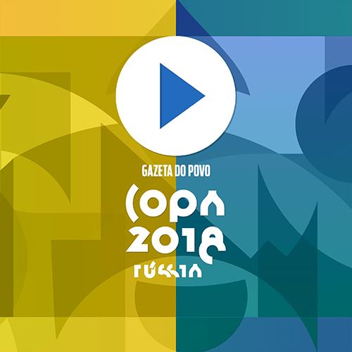 Ilustração da página de vídeos da Copa do Mundo na Rússia 2018