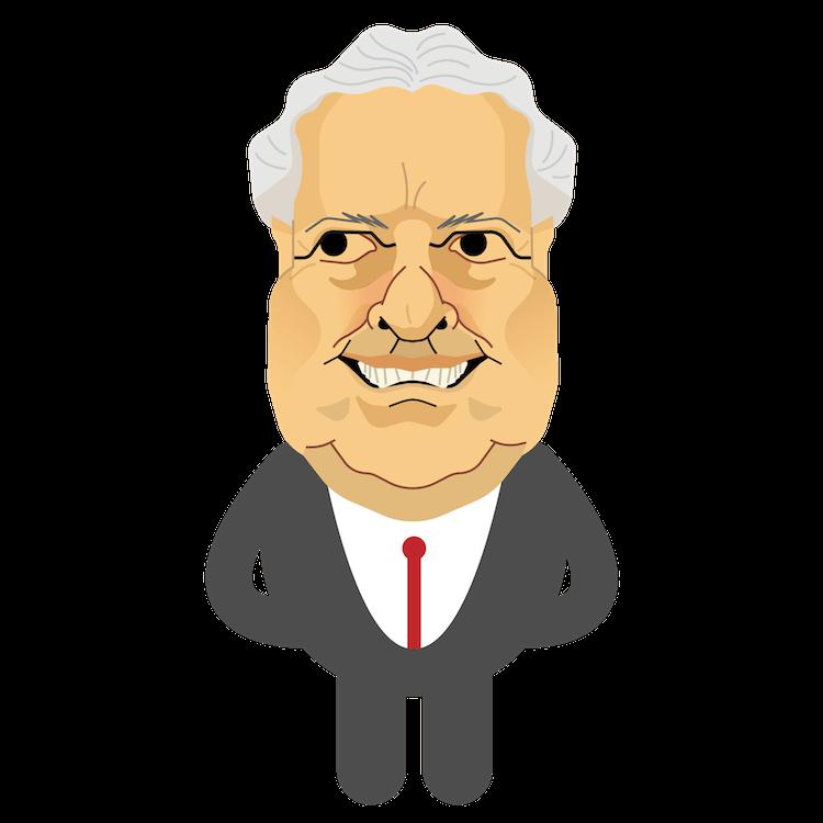 Caricatura do candidato João Vicente Goulart