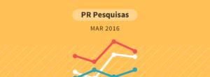 Pesquisa Paraná Pesquisas - março 2016
