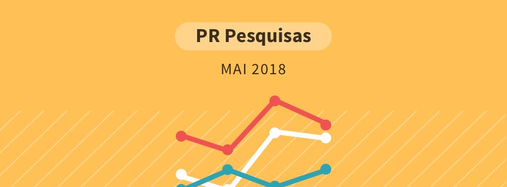 Paraná Pesquisas Maio 2018: Bolsonaro lidera cenário sem Lula