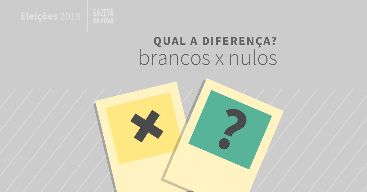 Voto branco e voto nulo: qual a diferença? Eleições 2018 - Gazeta do Povo