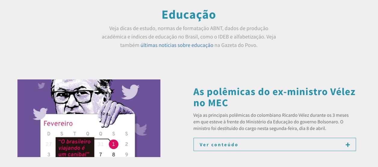Infográficos sobre educação