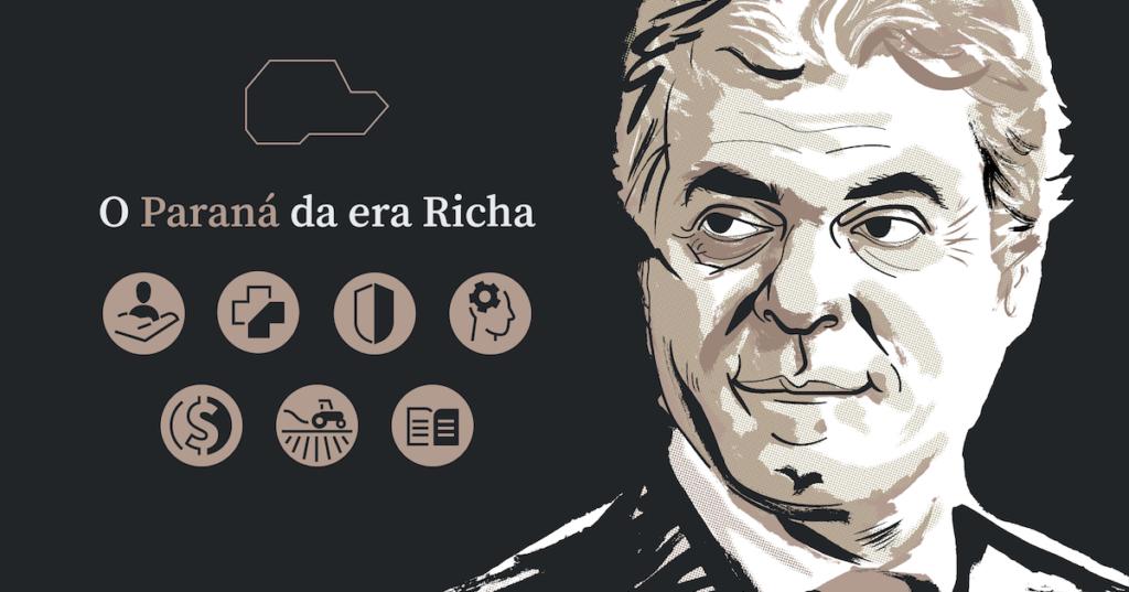 Fim do Governo Beto Richa (PSDB) (2011 a 2018). Eísticas e análises dos 7 anos e 3 meses do governo Richa (PSDB). Ele renunciou ao cargo antes do fim do mandato para disputar a eleição ao Senado