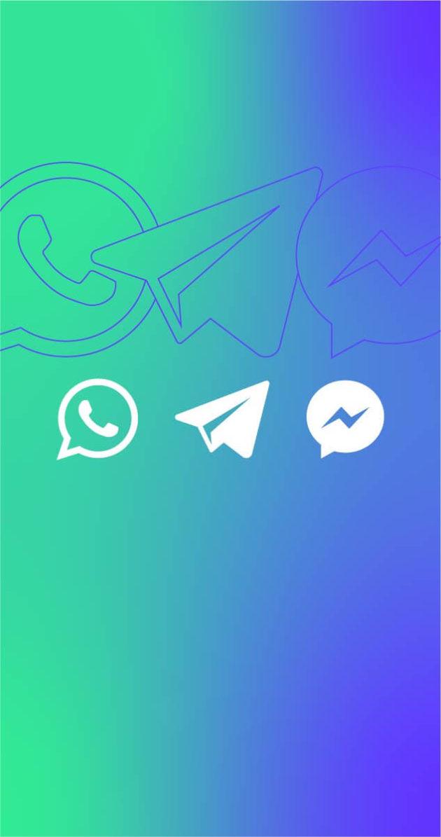 Receba notícias por mensagem: Whatsapp, Telegram, Messenger