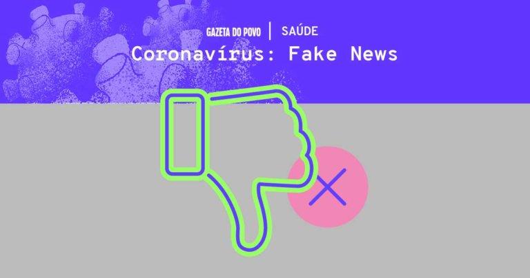 Muitas notícias falsas estão circulando sobre a prevenção, tratamento e a cura do Coronavírus. Não compartilhe sem saber: veja o que é mito e o que é verdade.