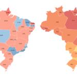 Mapa de homicídios no Brasil de 2015 a 2016