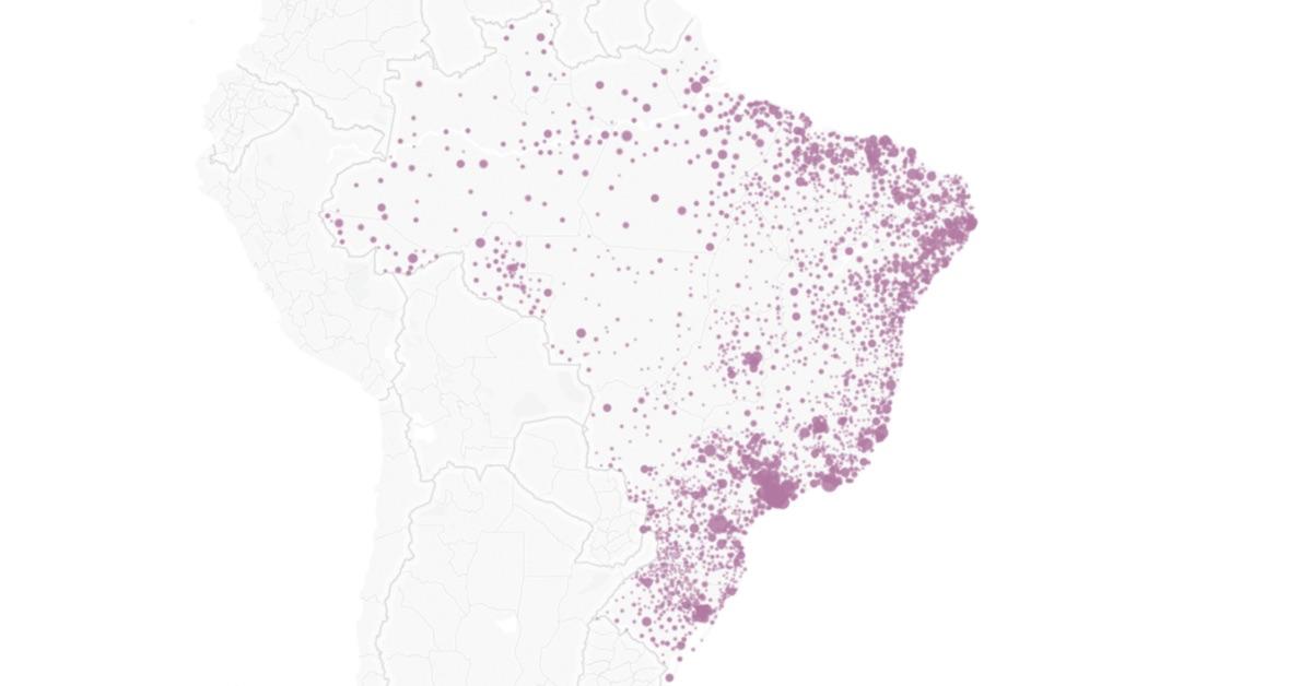 Vagas abertas no programa Mais Médicos em todo o Brasil. Mapa dos municípios com vagas.