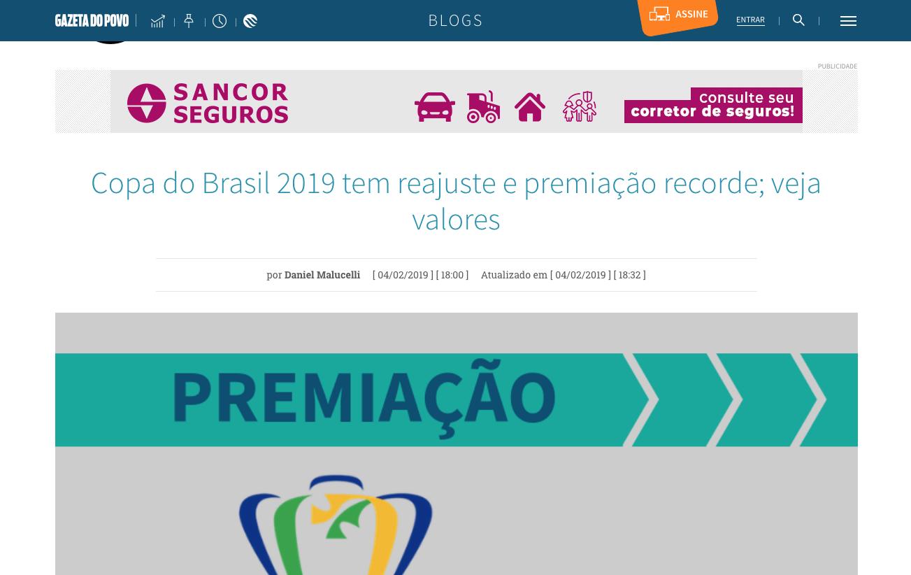 Copa do Brasil 2019 tem reajuste e premiação recorde