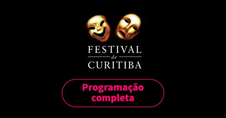 Veja a programação completa com todas as peças do Festival de Curitiba 2019. São mais de 400 atrações e muitas peças gratuitas. A 28ª edição do festival de teatro começou no dia 26 de março e vai até o dia 7 de abril de 2019.