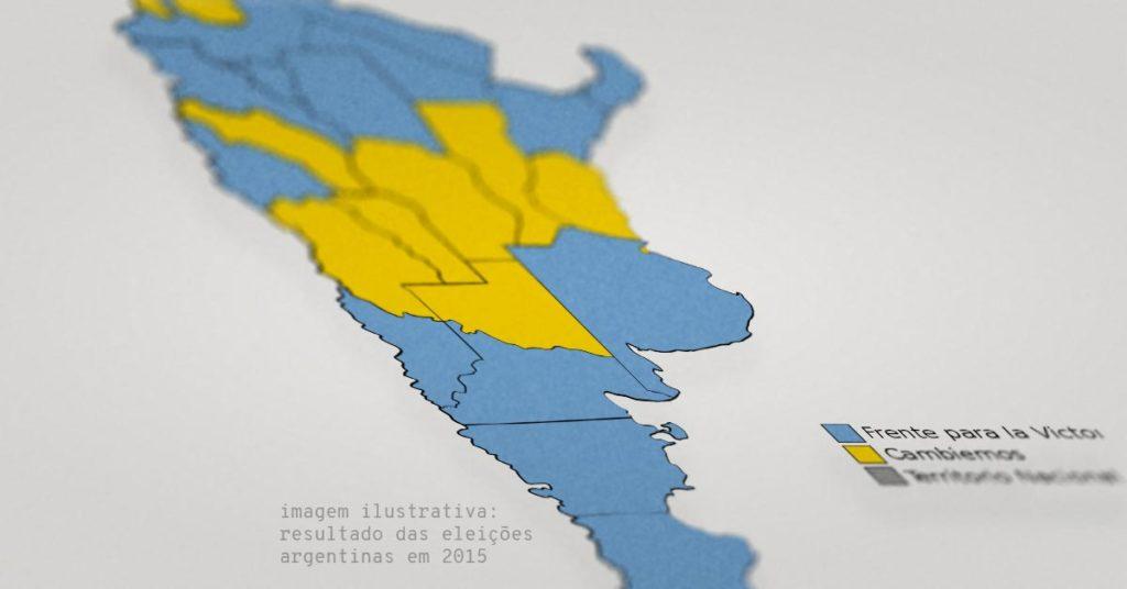 Conheça os pré-candidatos da Eleição presidencial na Argentina em 2019. Na imagem, mapa do resultado da eleição em 2015