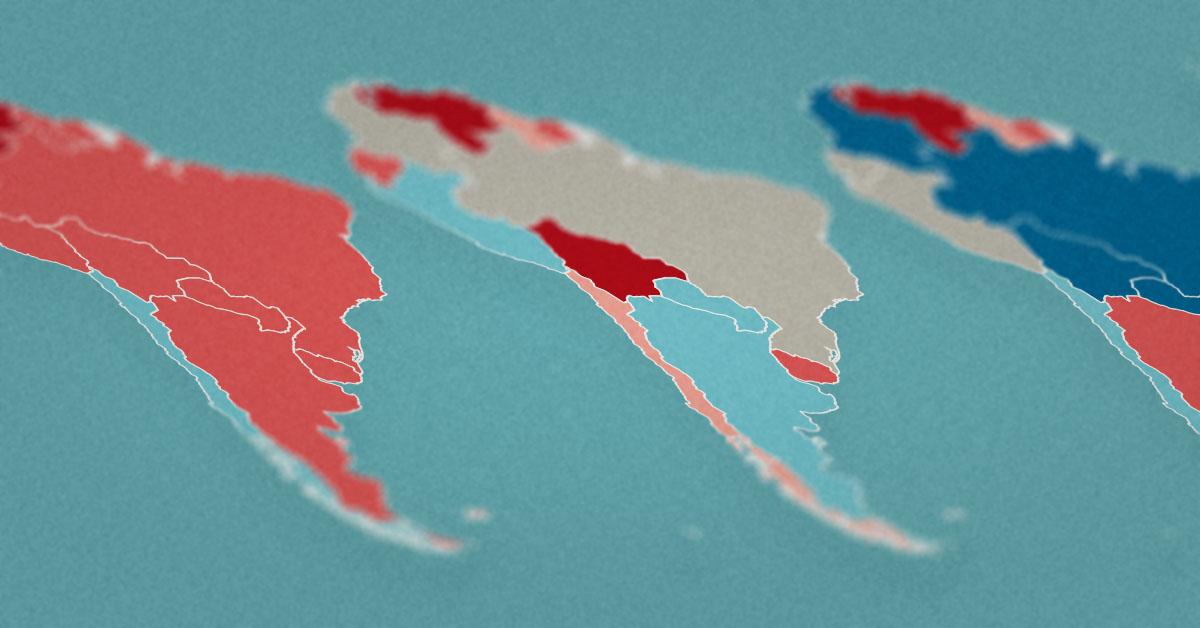 Mapa de esquerda e direita: mudanças políticas na América Latina de 2011 a 2020